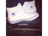 Limited edition white converse size 10