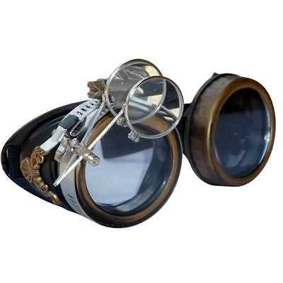SteAMPunk GogGLes VicTORian Novelty Glasses cosplay Antique filigree S4 party - Novelty Goggles