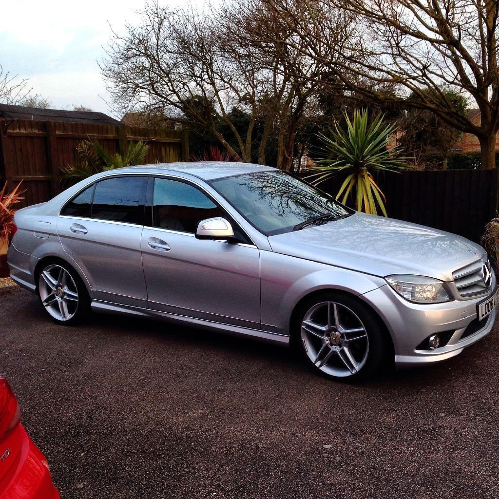 2008 mercedes c220 cdi amg sport silver 19 genuine amg wheels fsh in thrapston. Black Bedroom Furniture Sets. Home Design Ideas