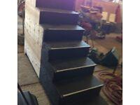 platform steps length 200cm height 130cm 7 steps.