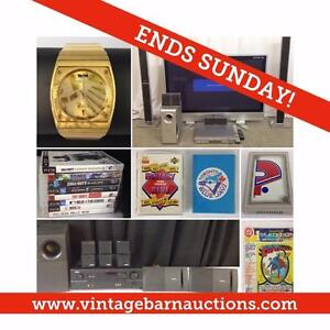MASSIVE SALE! Electronics, Furniture, Sports Collectibles, Coins, Banknotes, Blue Jays, Guitar, Stamps, Vinyl
