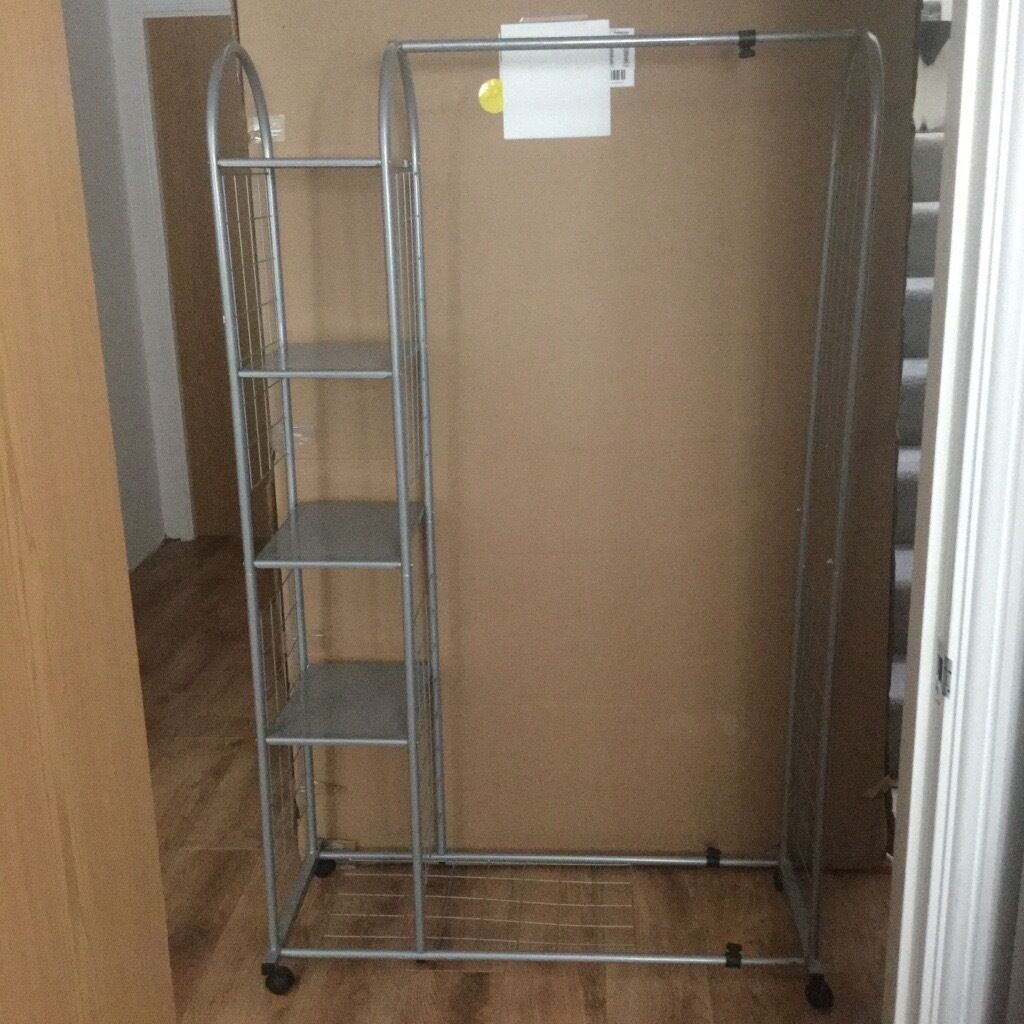 Corner Sofas Gumtree Liverpool: CLOTHES RAIL WITH 4 X STORAGE RACKS