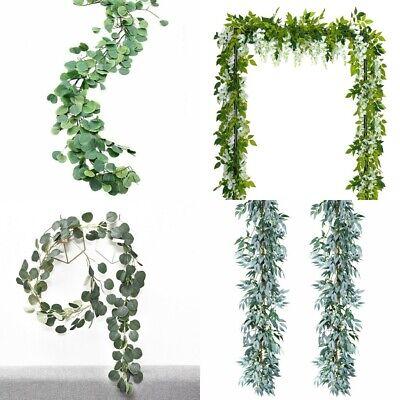 Artificial Plants Flower Greenery Garland Vine Faux Silk Vines Leaf Wreath Deco - Silk Flower Wreaths