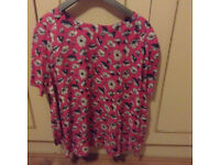 K and D pink floral top size 18