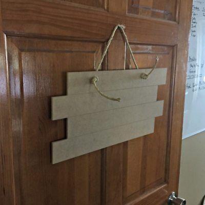 Wood Shiplap Door Hanger Shape, Unfinished Shape, Wooden Shiplap Door Cutout
