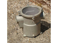 boat heavy bronze engine water strainer filter unit, guidi marine engine water filter unit