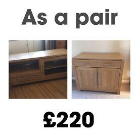 Oak effect furniture (Pair)