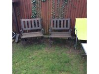 Two Matching Heavy Quality Garden Chairs.