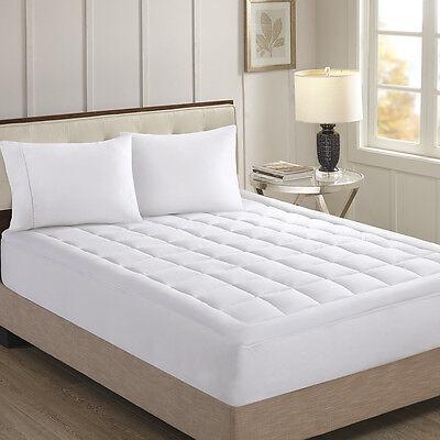 Cotton Sateen Mattress Pad - HAMPTON HILL 300TC 100% COTTON SATEEN KING WATERPROOF MATTRESS PAD - WHITE