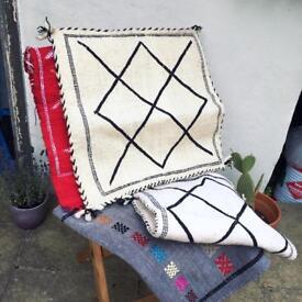 Moroccan ethnic boho wool cushion covers