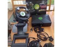 Xbox console : Saitek steering wheel and pedals etc