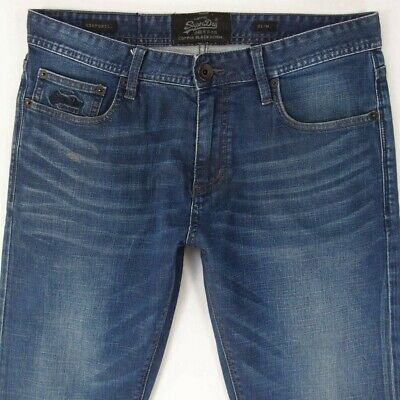Mens SuperDry SLIM Stretch Blue Jeans W34 L34