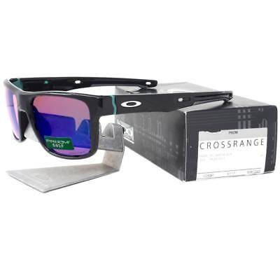 9dcaf0189f Oakley OO 9361-0457 CROSSRANGE Polished Black Prizm Golf Lens Mens  Sunglasses