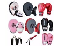 TurnerMAX Gel Focus Pads Boxing Gloves Hook and Jab Pad Set Punch Mitts Bags MMA