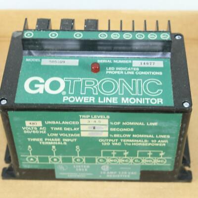 One Nos Gotronic Model 585109 Power Line Monitor 480v