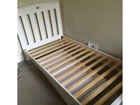 Kids bed White single wooden bed and storage trundle
