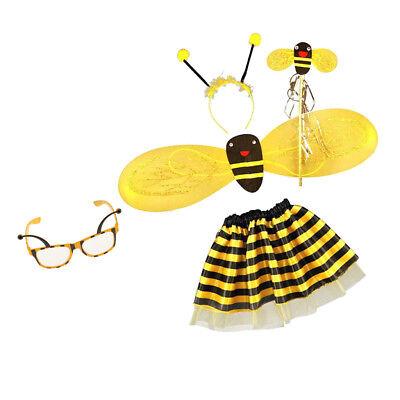 5pcs Bumble Bee Honig Mädchen Fee Halloween Abendkleid Partei Augengläser