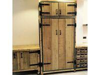 Industrial style larder pantry cupboard reclaimed timbers
