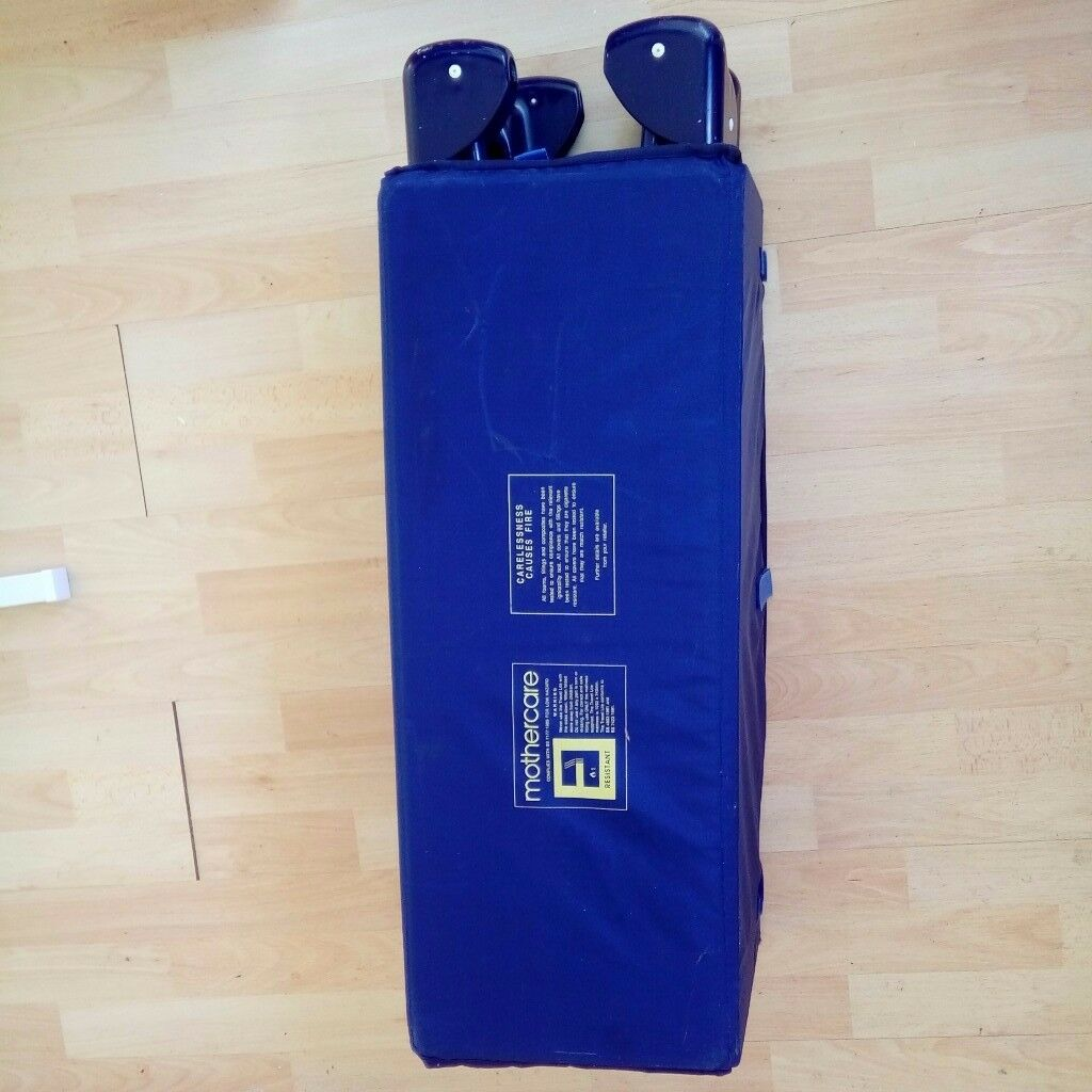 Blue mothercare travel baby cot