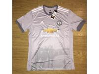 Manchester United Away Shirt Grey L