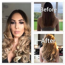 Luxury 100% human hair extensions