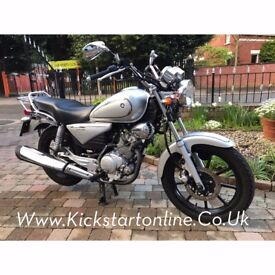 2014 YAMAHA YBR125 CUSTON -849 MILES £1850-PLUS 2011 YAMAHA YBR125 MINT 1950 MILES 1950 MILES £14