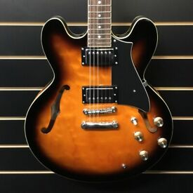 Peerless Hardtail Semi Hollow Electric Guitar with Hardcase
