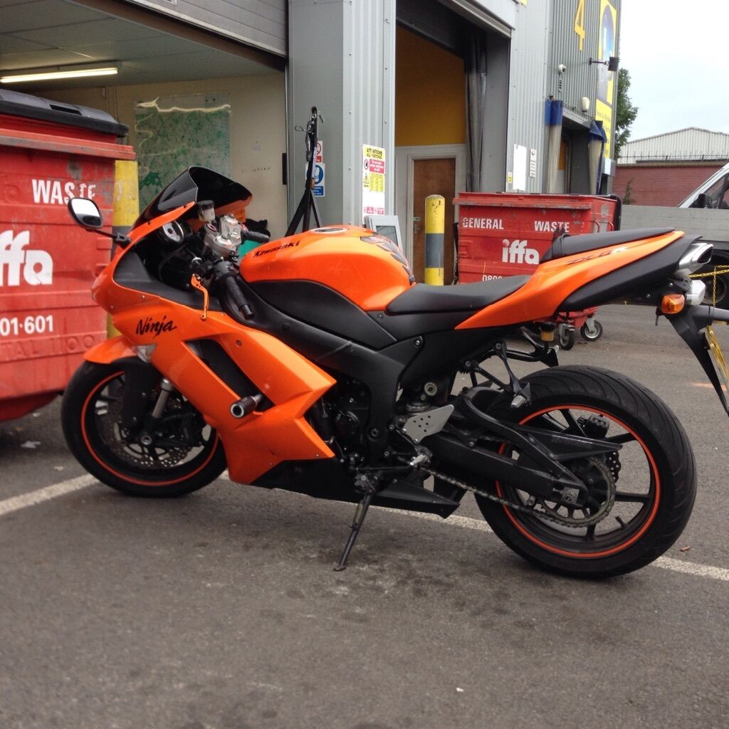 Kawasaki Zx6r 2007 Pf7 Ninja Low Miles Wildfire Orange