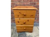 Pine Bedside Table/Drawers