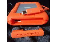 Original LaCie Thunderbolt Rugged 1TB External HDD for PC & MAC, Brand New