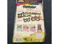 Kid's Activity Scratch Art Magic Colour Masks Craft Kit (Makes 10) Assorted Design Pack