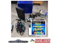 BOXED PS2 console OVER 6000 RETRO games Sega Nintendo Atari SNES NES MEGADRIVE