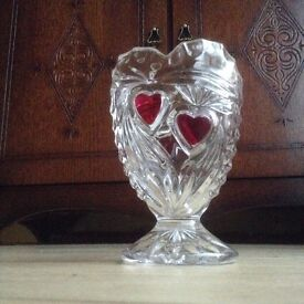A vase with hearts on it - perhaps a nice Mother's Day idea?