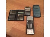 4 calculators for the price of 1:HP 17 plus + HP 49 G + Texas instrument BA II plus (CFA) + HP 19B