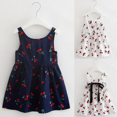 94e25315bffb Toddler Kids Baby Girls Summer Beach Floral Dress Princess Party Pageant  Dresses