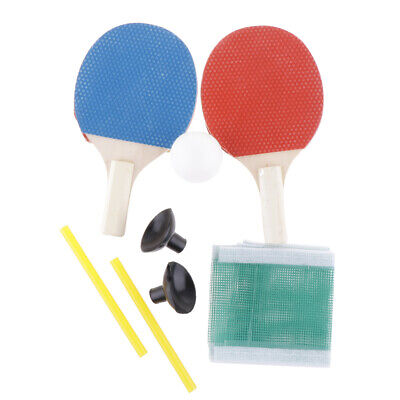Table Tennis Racket Long Handle Bat Paddle Ping Pong Ball Net Set for Practice for sale  Shipping to Canada