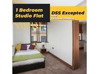 Single Studio Modern Flat City Center (Part Bills Included)
