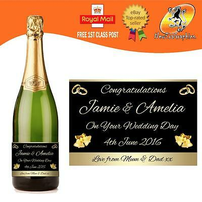 personnalis mariage champagne prosecco bouteille tiquette - Tiquette Personnalise Champagne Mariage