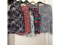 Five woman's tops all been used Size 16