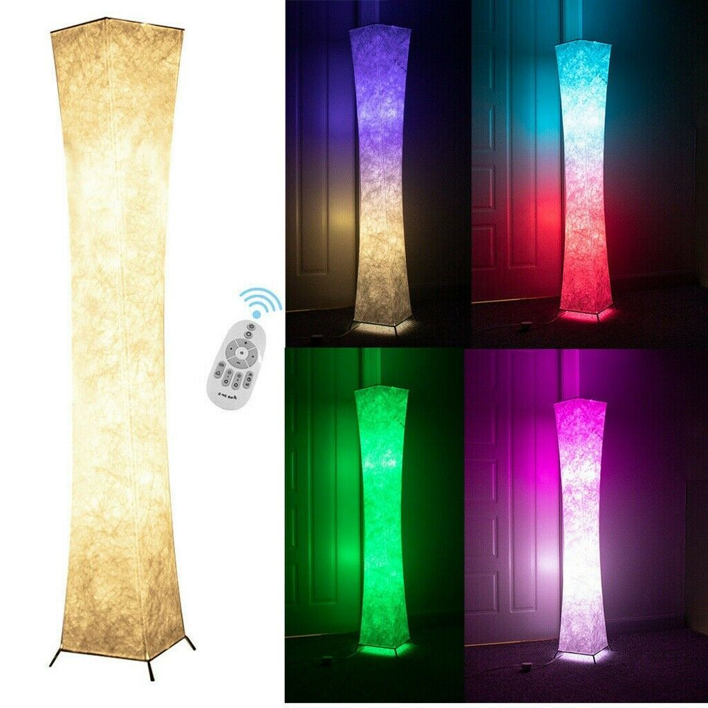 LED Floor Lamp with 2 Bulbs RGB Color Changing Remote Standi