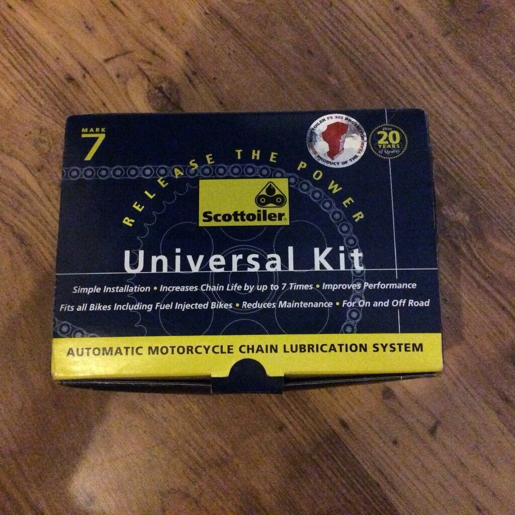 SCOTTOILER AUTOMATIC MOTORCYCLE CHAIN LUBRICATION SYSTEM UNIVERSAL KIT | in  Aberdeen | Gumtree