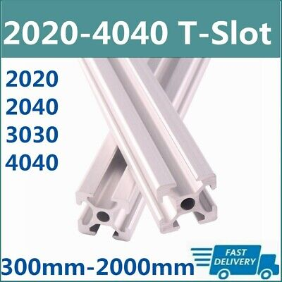 T-slot Linear Rail 2pcs 300mm2000mm 2020 3030 4040 2040 Extrusion Anodized Cnc