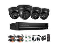 New Security Surveillance CCTV 4 x Colour IR Dome Cameras 4 Channel DVR 500GB HDD