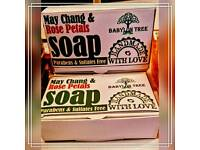 100% Natural Soaps hand-crafted with organic coconut oil base and pure essential oils.