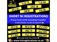 Short NI Number Plates from £370 - Cherished Personal Private Registration plates-car,van