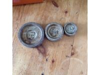 Kitchen scales with assorted imperial weights
