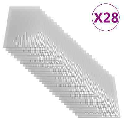 vidaXL 28x Paneles de Policarbonato Lámina Placa Cubierta Invernadero de Pared