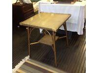 """Lloyd loom """"lusty"""" glass table"""