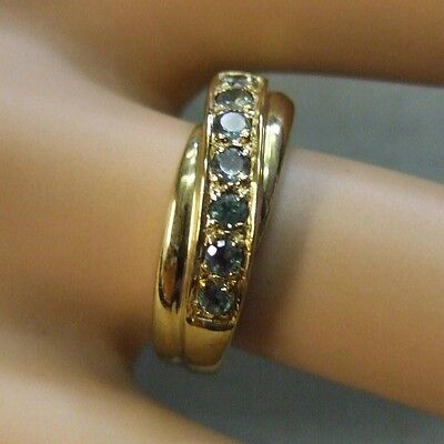 9 ct GOLD second hand peridot ring