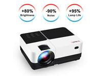 """BRAND NEW,Projector, GEARGO 2800 Lumens HD Video Projector with 185"""" and 1080P"""